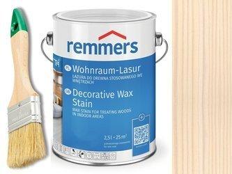 Lazura woskowa Remmers do wnętrz 0,75 L BIAŁY