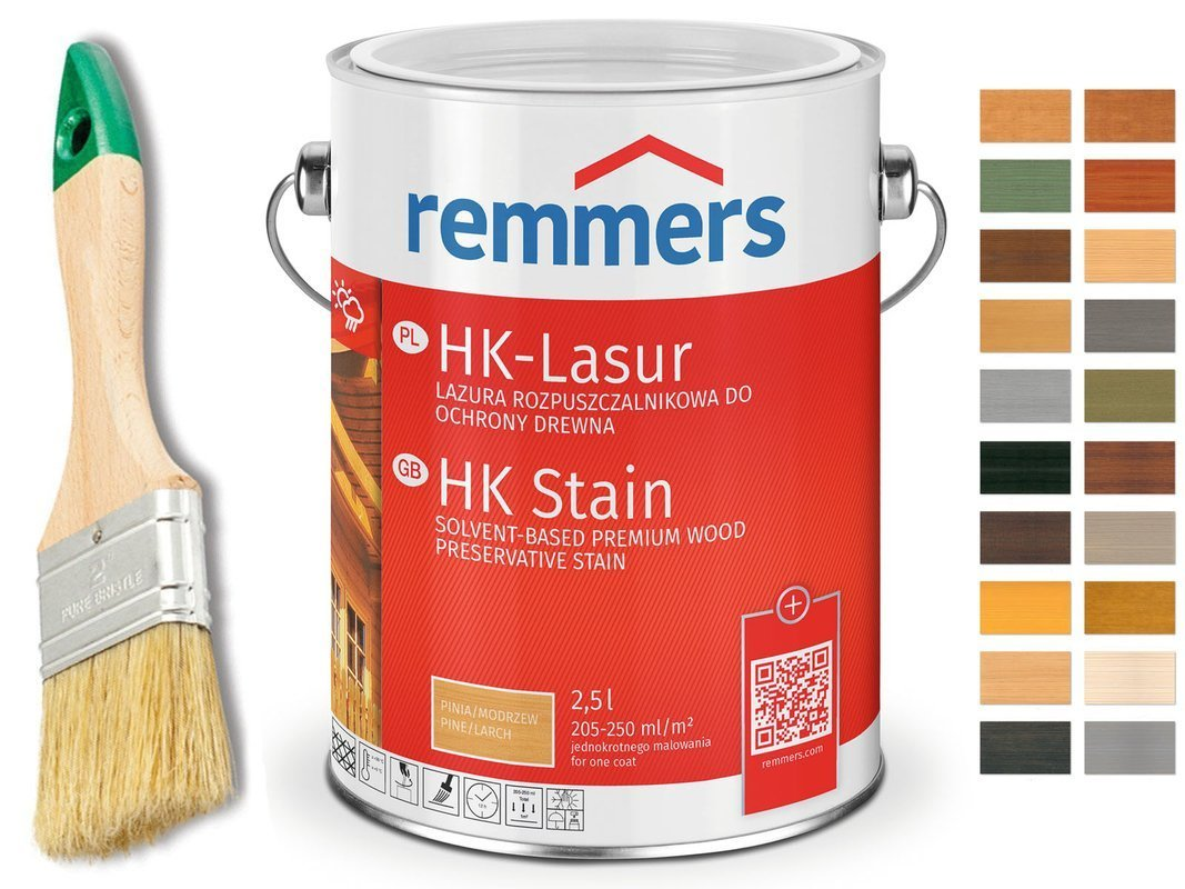 Remmers HK-Lasur impregnat do drewna 2,5L KOLORY