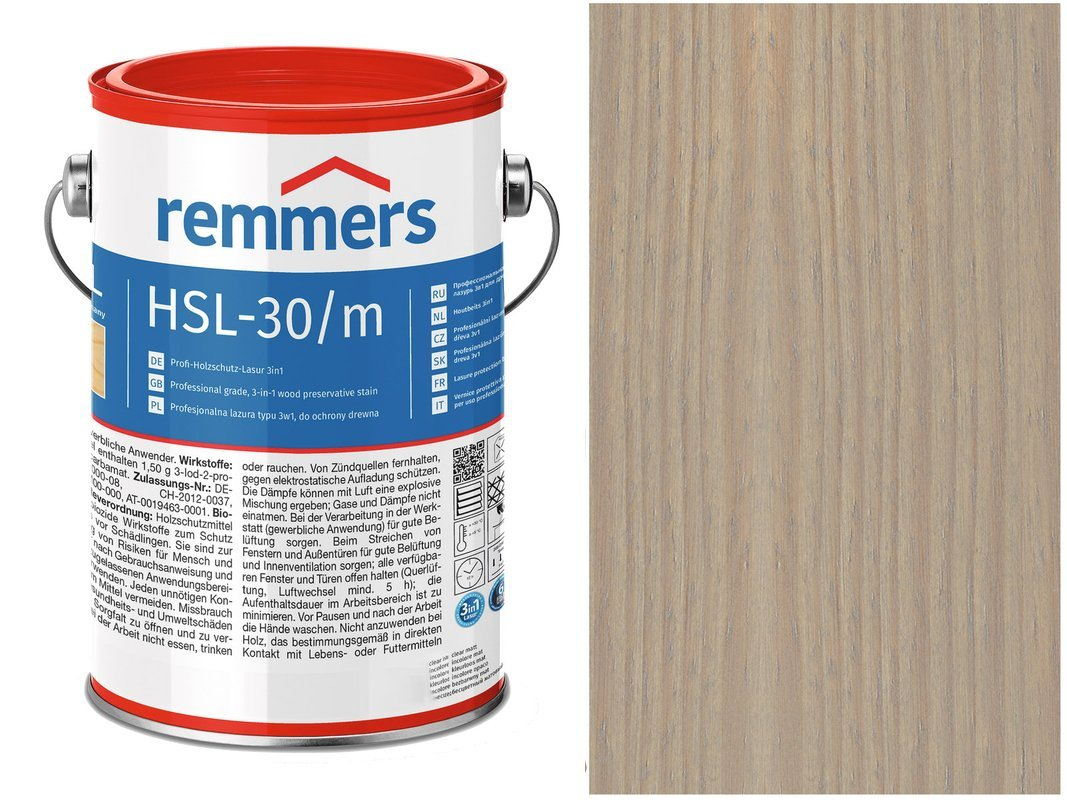 Remmers HSL-30 Profi HK-Lasur Srebrnoszary 10L