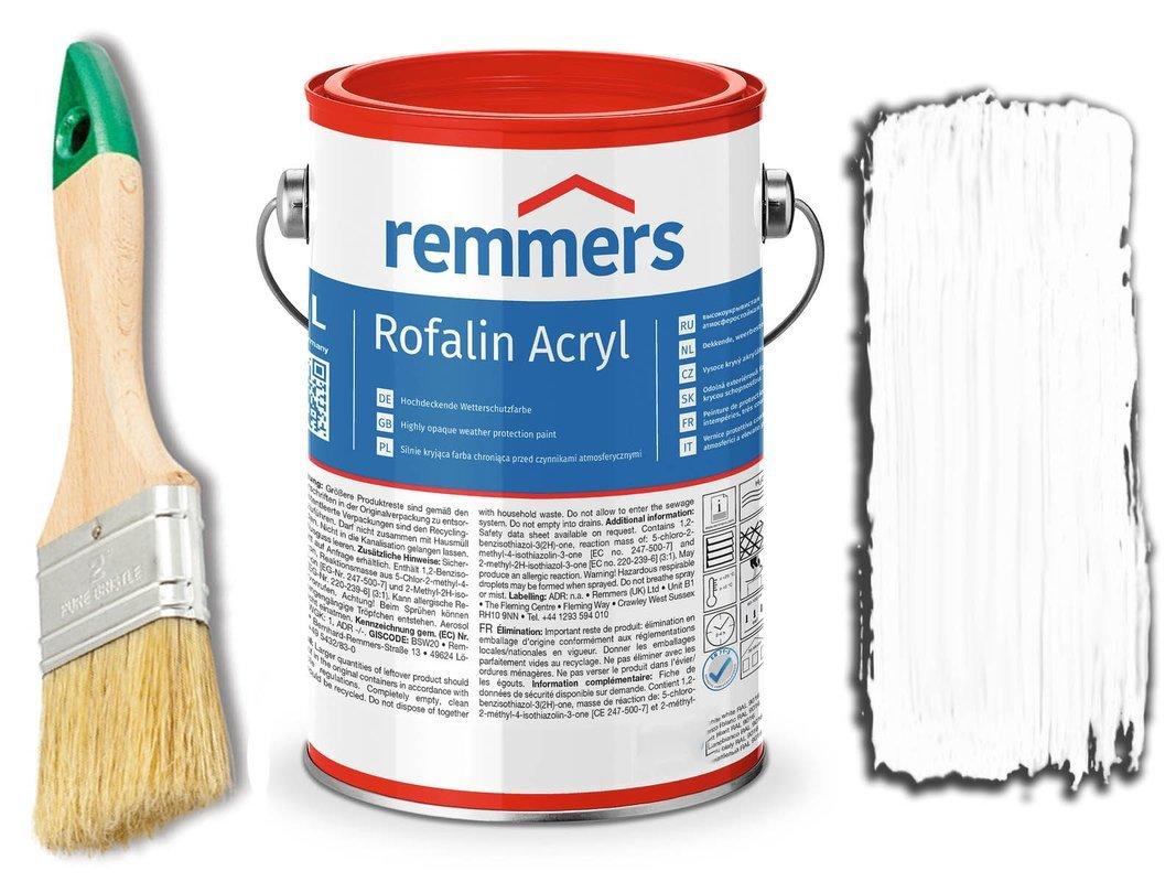 Remmers Rofalin Acryl farba do drewna BIAŁA 2,5L